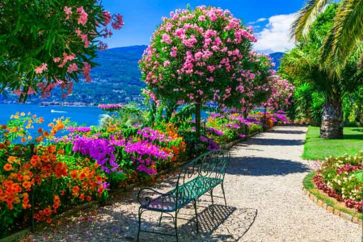 The Italian-style baroque garden