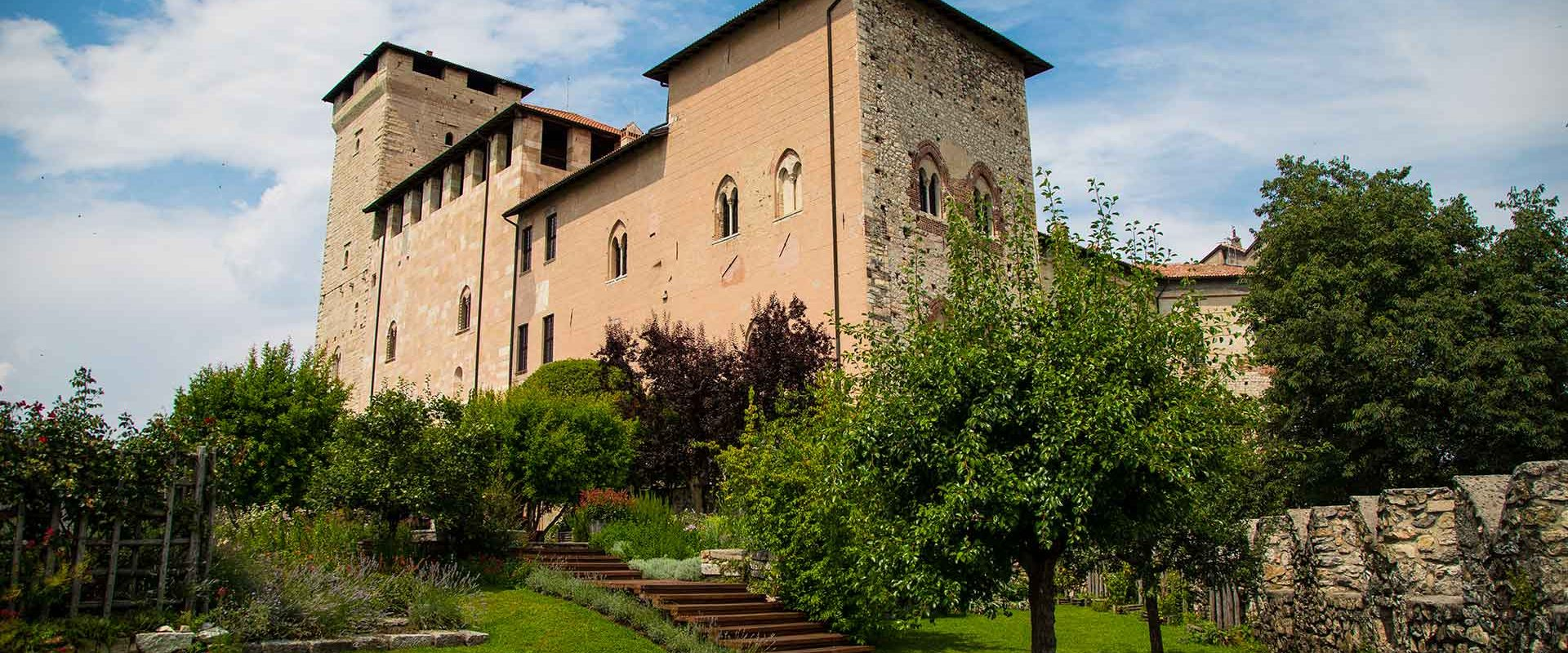 The medieval-inspired garden of the Rocca di Angera